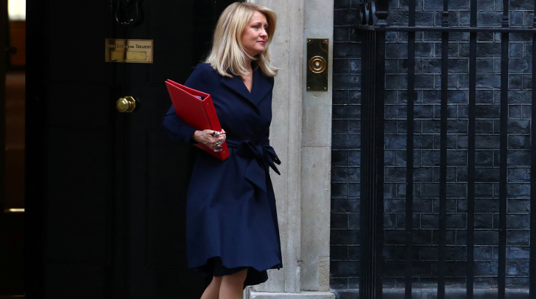Britain's Secretary of State for Work and Pensions Esther McVey leaves 10 Downing Street, in London, Britain October 16, 2018.