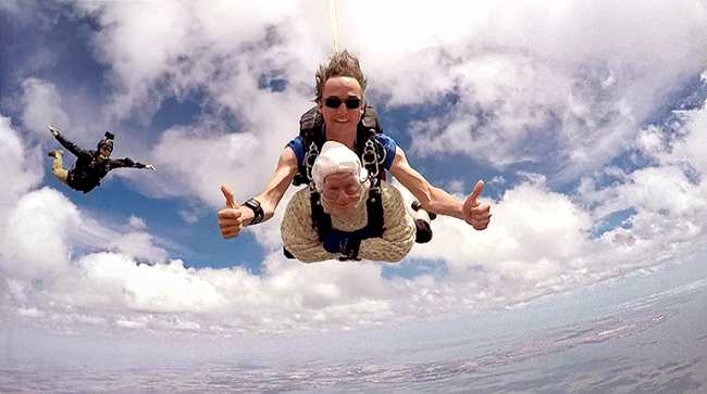 102-year-old great-granny becomes 'oldest' skydiver