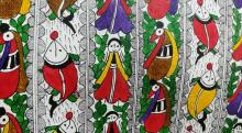 Every Madhubani painting has a story and theme behind it. It symbolises a rural way of life or an element treasured by the rural folk