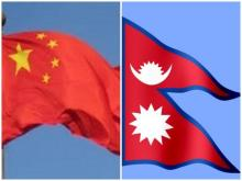 Nepal and China Flag