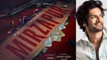 Official poster of 'Mirzapur' (left) and Ali Fazal (right)