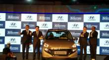 Hyundai Santro was launched at a gala event in New Delhi on Tuesday.