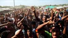 Rohingya in Bangladesh protest efforts to send them back to Myanmar.