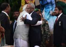 When the ceremony came to an end, President Solih extended a warm hug to PM Modi