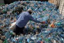 Waste plastic bottles