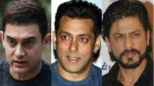 File images of Aamir Khan, Salman Khan and Shah Rukh Khan