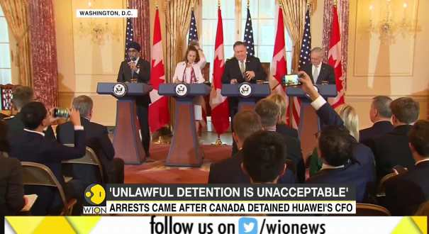Mike Pompeo urges release of two Canadians