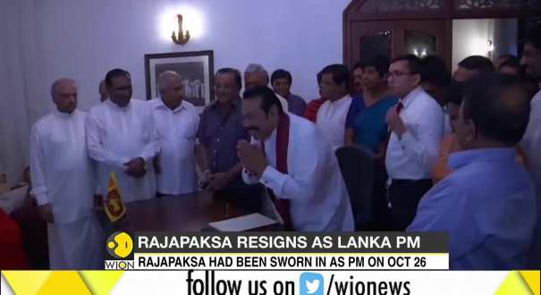 Rajapaksa resigns as Lakan PM
