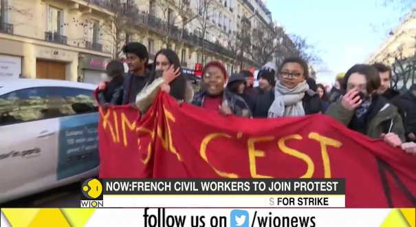 French civil workers to join protests