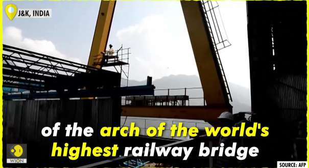 India completes world's highest rail bridge arch