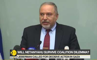 Israeli PM under coalition pressure to act tough as Defence Minister Avigdor Lieberman resigns